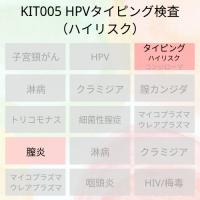 女性用のハイリスクHPVのどの型に感染しているか検査できるキットです。
